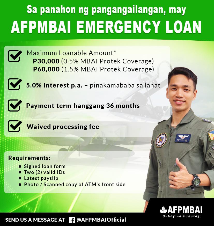 Afpmbai Emergency Loan Afpmbai